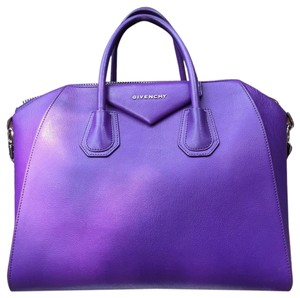 Givenchy Antigona Leather Satchel in Purple