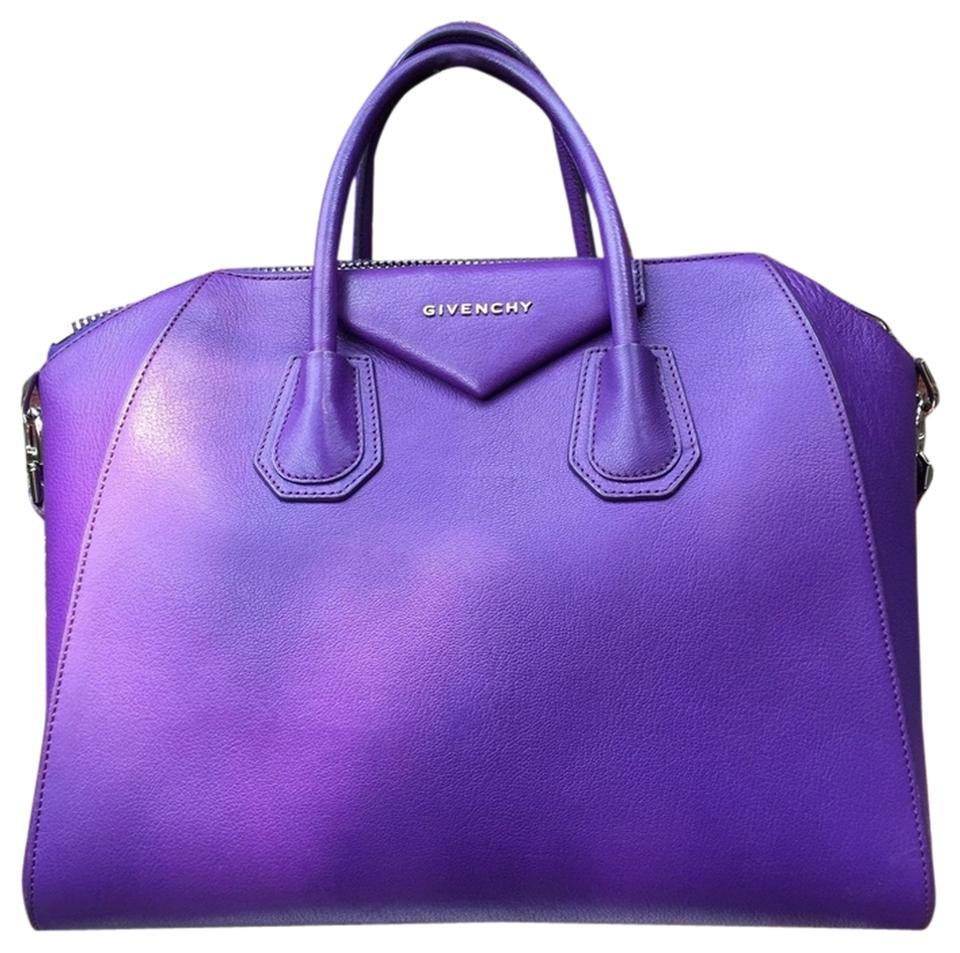 Givenchy Medium Antigona Rare Silver Hardware* Purple Satchel ...