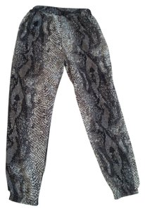 Lily White Animal Print Lounge Pants