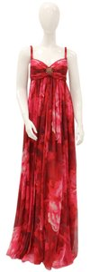 Marc Bouwer Silk Floral Maxi Gown Dress