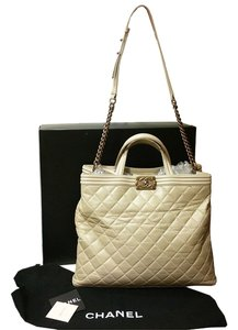 Chanel Le Boy Large Crossbody Tote in Beige