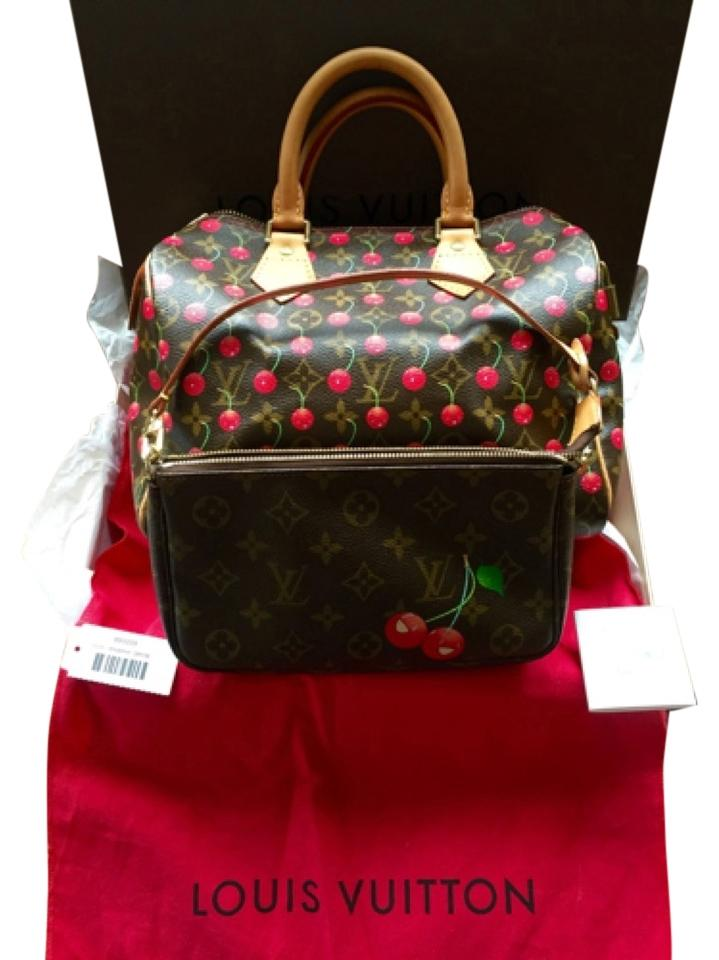 c3d21f0373882d Louis Vuitton Satchel in Monogram With Cherries / Cerises Image 0 ...