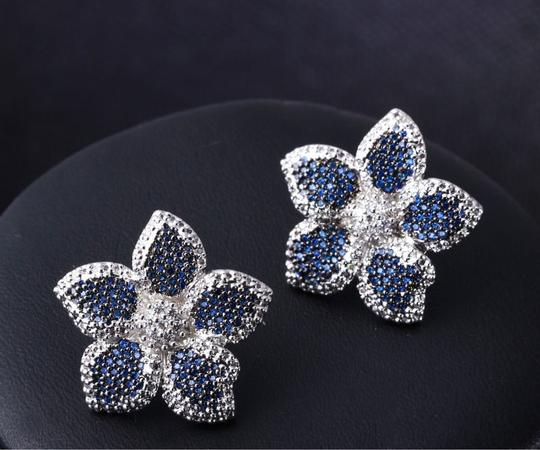 Czech Brand new flower design micropaved earrings Image 7