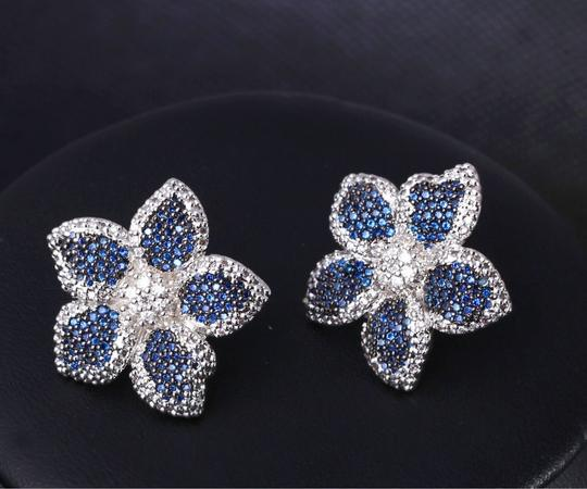 Czech Brand new flower design micropaved earrings Image 8