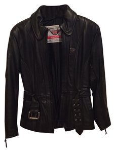 First Gear Motorcycle Leather Fitted Motorcycle Jacket