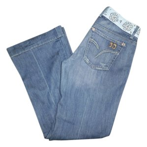 JOE'S Trouser/Wide Leg Jeans-Medium Wash