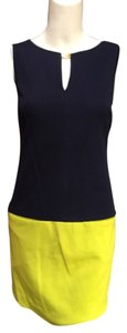 Trina Turk short dress Navy and lime green on Tradesy