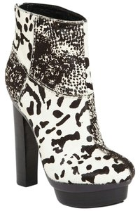 Rachel Zoe 10 40 Pony Hair Black, White Boots