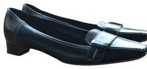 Prada Black, with white contrast stitching Flats