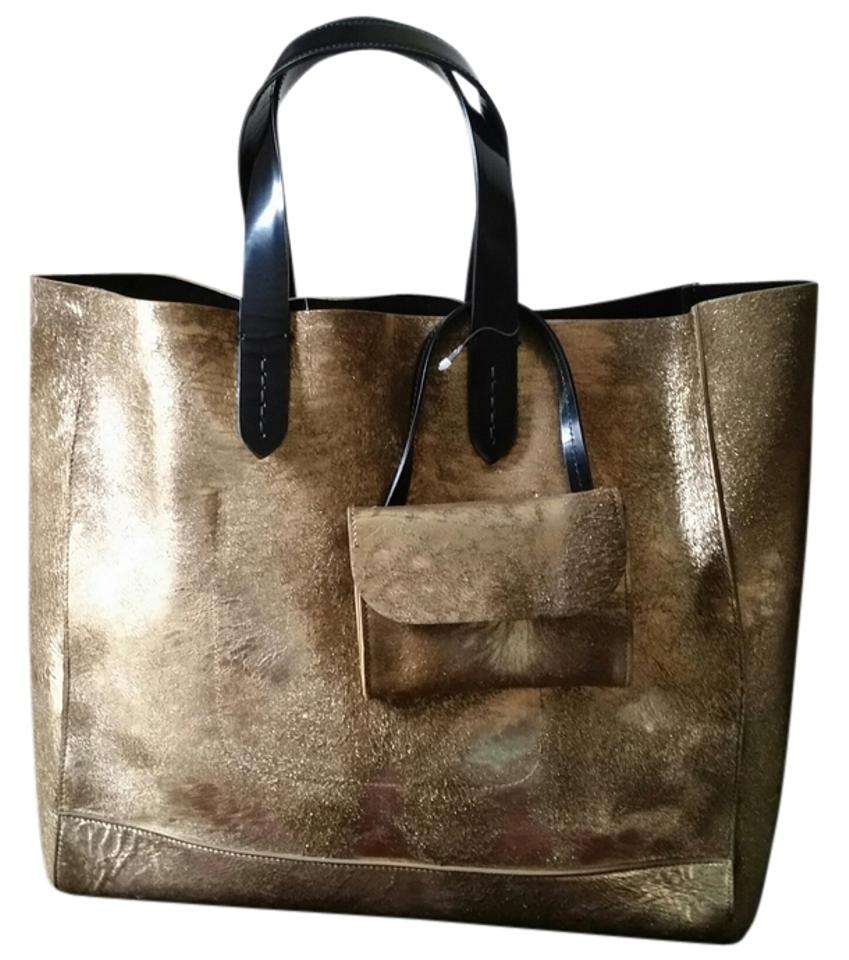 080be1aa337c Ralph Lauren Collection New Stirrup Calf Hair Handbag Gold Bronze ...