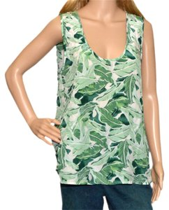 Joie Top Olive /White Silk