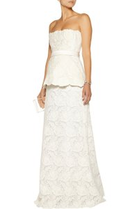 Stella McCartney Shirland Guipure Lace Strapless Gown Wedding Dress