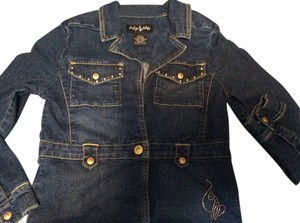 Baby Phat Childrens Blue Jean with Pink Embroidery Womens Jean Jacket