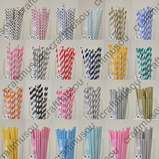 200 Pieces Paper Drinking Straws Other