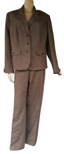 Kasper New KASPER Light Olive Cotton Blend Pantsuit Pants Suit 18W 16W