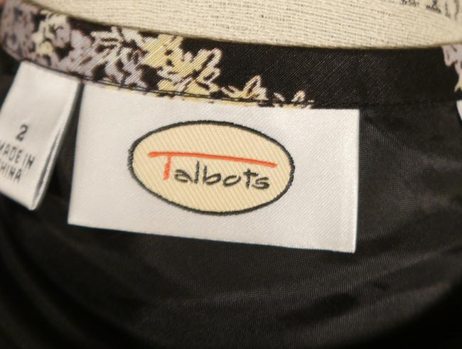 Talbots Skirt Black White Yellow