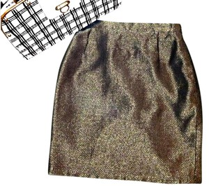 Escada Skirt metallic gold/black