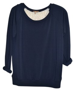 Anthropologie Lace Sweatshirt Cut-out Sweater