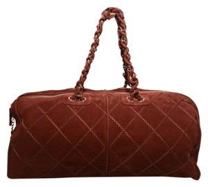 Chanel Duffle Weekender Duffle Tennis Maroon Travel Bag