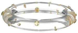 Alexis Bittar Alexis Bittar Clear Lucite And Gold Studded Hinged Bracelet New
