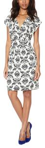 Alex + Alex White Sheath Floral Dress