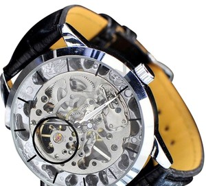 MCE Luxury Mechanical Transparent Face Hand Wound Watch-FREE SHIPPING