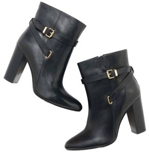 Ava & Aiden Leather Gilt And Black Boots