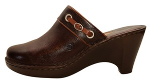 Børn Leather Leather Dark brown Mules