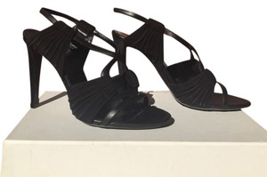 Balenciaga Leather Pointed Toe Black Sandals