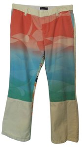 Custo Barcelona Cropped Size 4 New Cropped Beach Capris Yellow, black, orange, green +