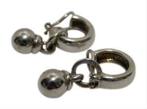 Tiffany & Co. Tiffany & Co. Sterling Silver Fascination Bead Ball Dangle Clip On Earrings