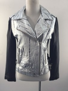 OAK Moto Black/Silver Leather Jacket