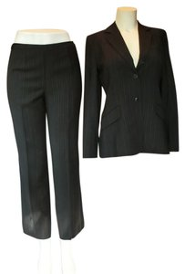 Ann Taylor LOFT Grey Suit with Blue Pinstripes