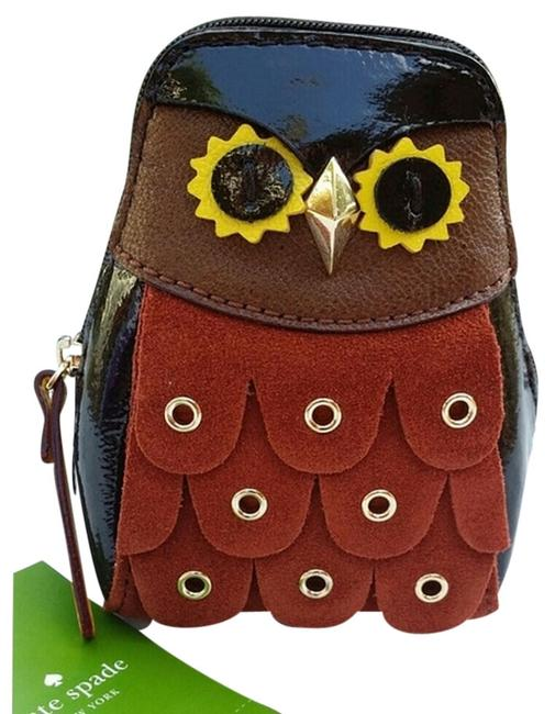 Item - Brown Leather Maximillian Owl Minerva Coin Purse Cosmetic Bag