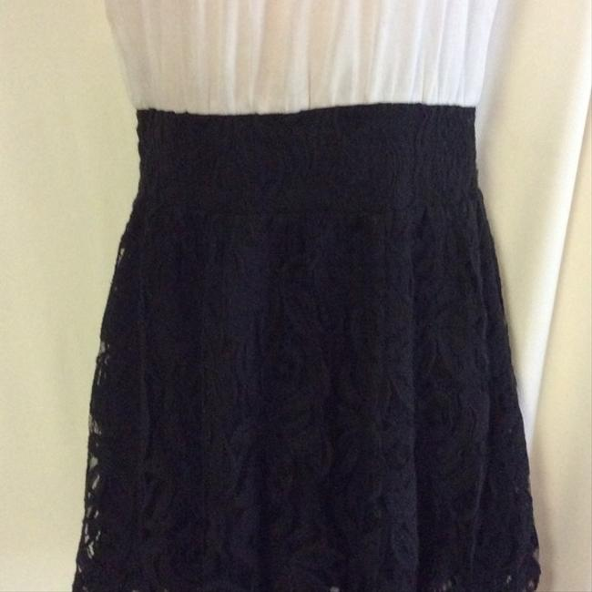 Free People short dress white black Lace Bottom Peasant on Tradesy Image 2