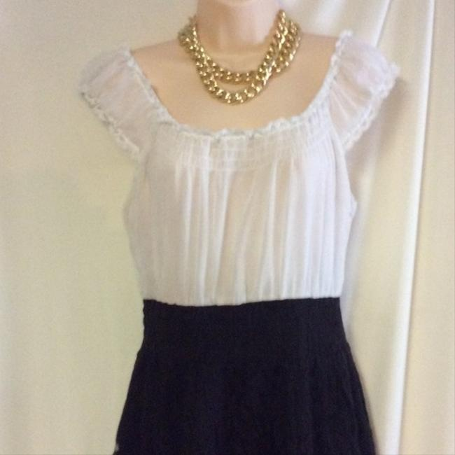 Free People short dress white black Lace Bottom Peasant on Tradesy Image 3