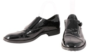 Tod's Patent Leather Loafers Buckle Black Formal
