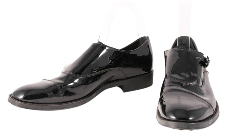 Tod's Black Strap * Patent Leather Monk Strap Black Loafers Formal Shoes caab31