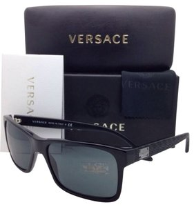 Versace New VERSACE Sunglasses VE 4274 GB1/87 58-17 Black Frame with Grey Lenses