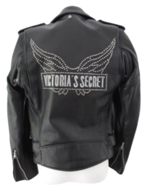 Schott NYC Blac 2001 Victoria's Secret Fashion Show Perfecto with Studded Angel Wings On Back Jacket Size 2 (XS) Schott NYC Blac 2001 Victoria's Secret Fashion Show Perfecto with Studded Angel Wings On Back Jacket Size 2 (XS) Image 1