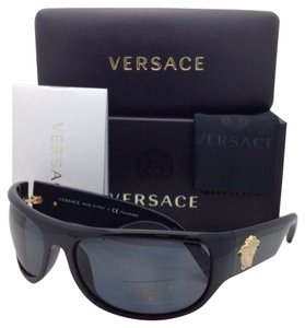 Versace New VERSACE Sunglasses VE 4276 GB1/81 63-18 Black Frame w/ Gray Polarized Lenses
