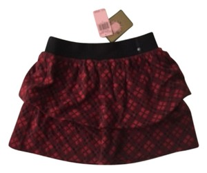 Juicy Couture Mini Skirt Red & Black