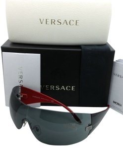 Versace New VERSACE Sunglasses VE 2054 1001/87 115 Gunmetal & Black Frame w/ Grey lens
