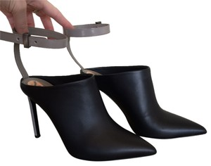Vince Leather Black Mules