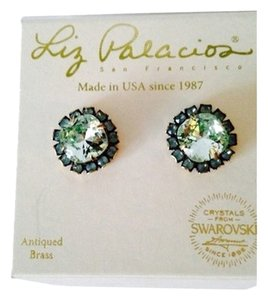 Liz Palacios LIZ PALACIOS NWOT Faceted Mint Green & Turquoise Crystal Stud Earrings