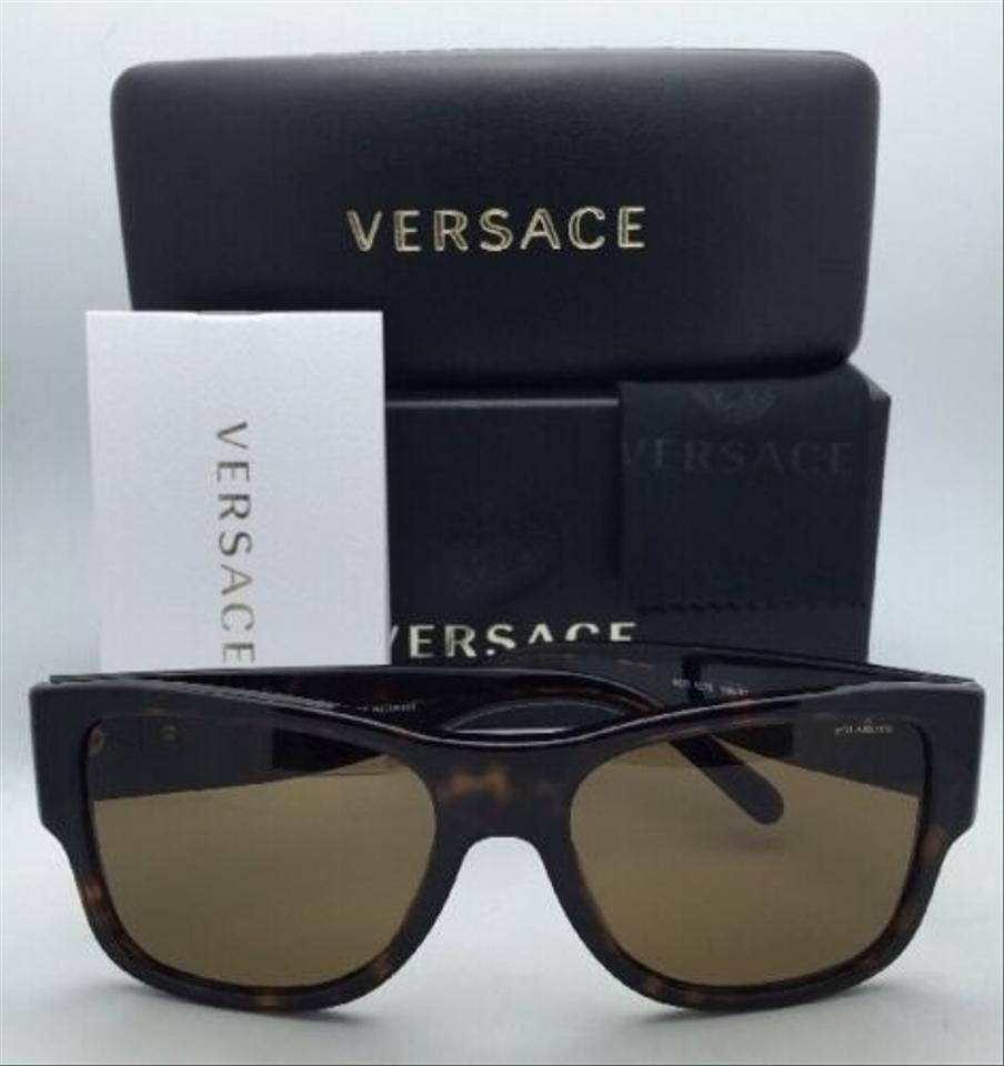 522afa04ffb Versace Ve 4275 108/83 58-18 Havana Tortoise W/Brown Lenses Polarized  108/83 Frame W/ Sunglasses