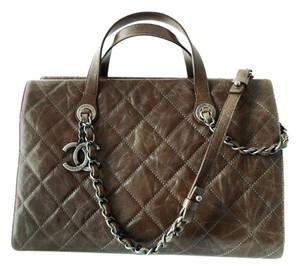 Chanel Dust Cover Card Tote in Brown