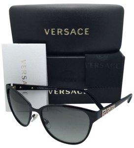 Versace New VERSACE Sunglasses VE 2147-B 1009/11 56-16 140 Black Frame w/ Grey Gradient lenses