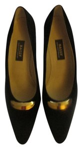 Bally Black with gold metal Pumps
