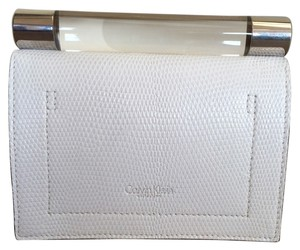 Calvin Klein Leather White Clutch